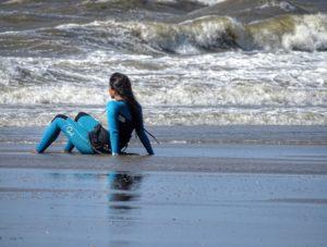 Surfer Strand Nordsee